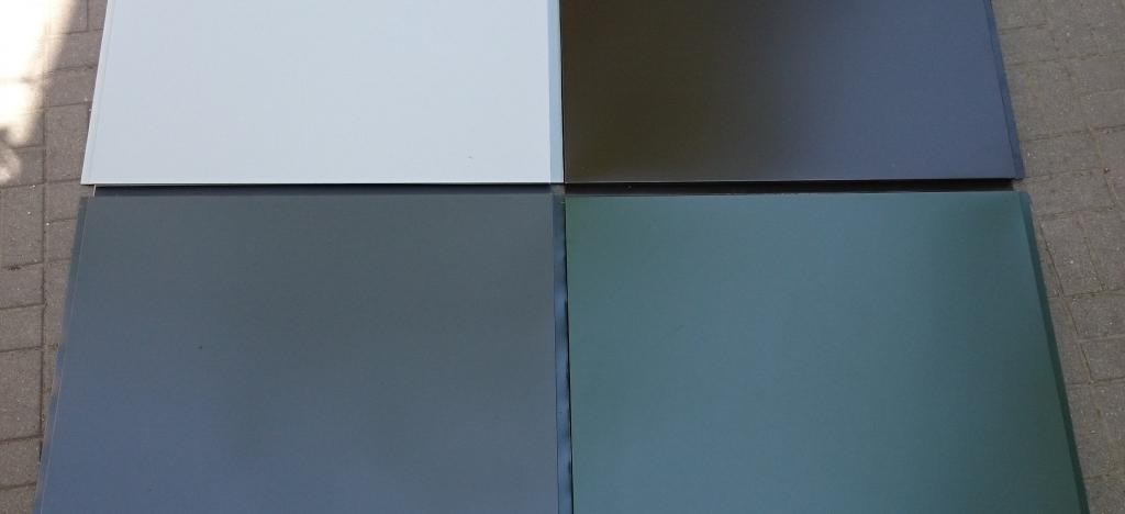 fasado kasetės skirtingų spalvų