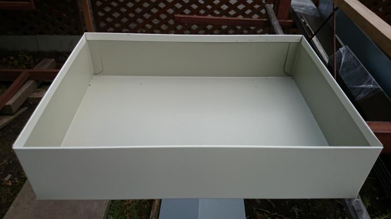 skardinė dėžutė iš vidaus