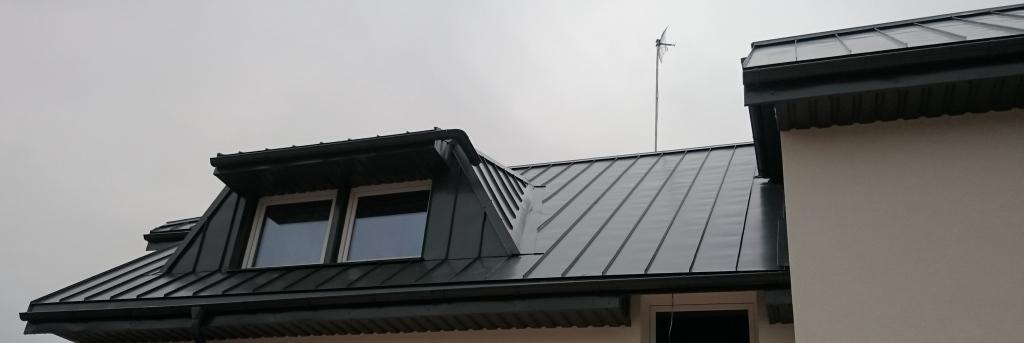 klasikinė stogo danga, vaizdas nuo balkono